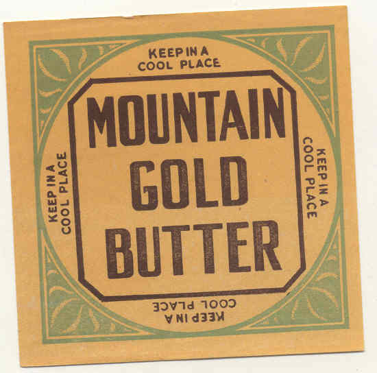 Mountain Gold Butter Label