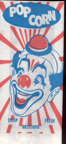 Circus Clown Popcorn Bag