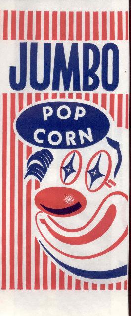 Jumbo Clown Popcorn Bag