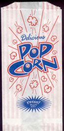 Delicious Hot Movie Popcorn Bag 50s