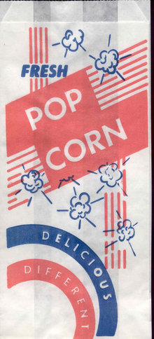 Movie Snack Popcorn Bag 1950s
