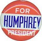 Hubert Humphrey Pinback Pin
