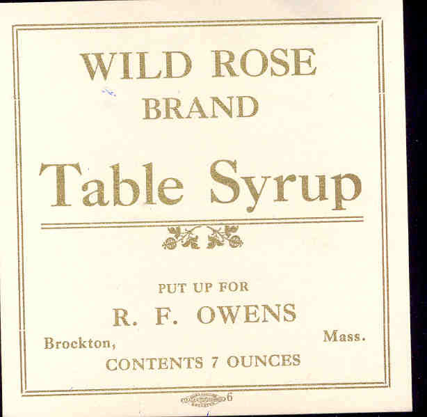 Wild Rose Syrup Label