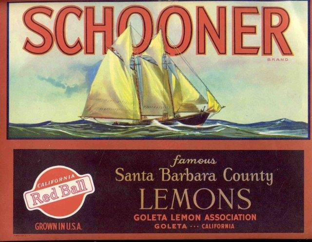 Red Ball Schooner Lemon Label