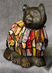 Multicolor Tiffany-Style Cat Lamp - Amber (pc)