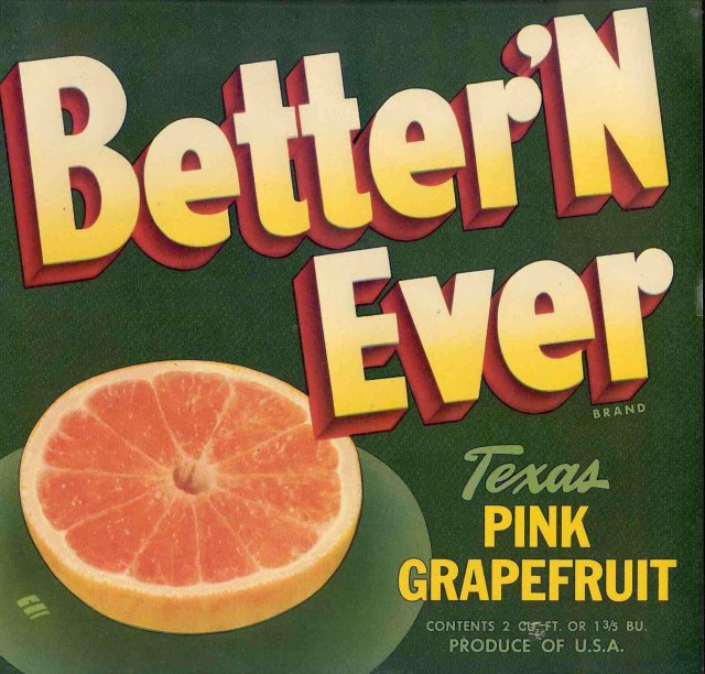Better Ever Grapefruit Label