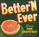 Better Ever Grapefruit Label
