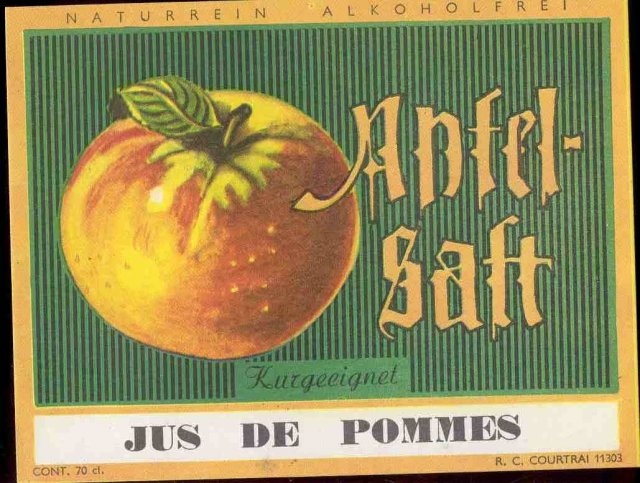Jus De Pommes French Wine Label