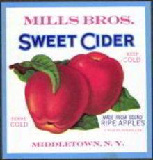 Mills Bros. Apple Cider Label