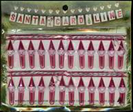 Christmas Holiday Santa Claus Hangar Cards