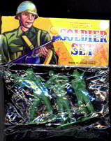 Toy Soldier in Plastic Original Bag 1960s