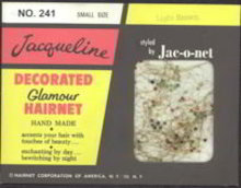 Jeweled Jac-O-Net Hairnet in Original Pack