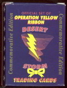 Operation Yellow Ribbon Desert Storm Trading Cards Full Set