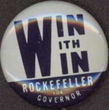 Rockefeller for Governor Pinback Pin