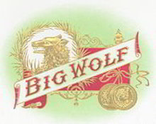 Big Wolf Cigar Box Label