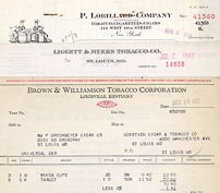 Tobacco Billhead Invoices