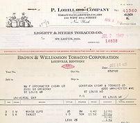 Tobacco Billhead Invoices