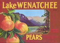 Lake Wenatchee Pears Crate Label
