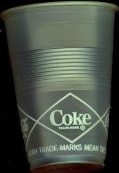 Coca Cola Soda Clear Plastic Cup