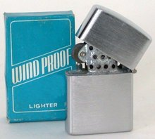 Penquine Flip-Top Greaser Chrome Lighter