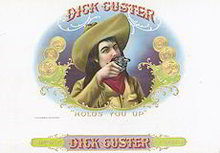 Dick Custer Cigar Label