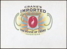 Crane's Cigar Label 1900s