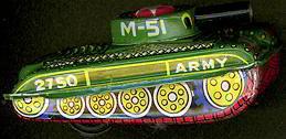 Army Tin Tank 1960s
