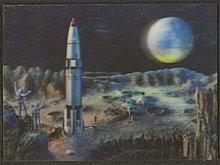 1969 Astronaut 3D Postcard