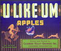 U Like Em Apple Crate Label