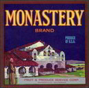 Monastery Fruit Crate Label