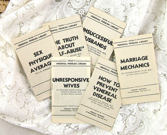 1942 Personal Sex Problems Pamphlets Rare