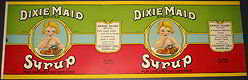 Dixie Maid Syrup Pail Label
