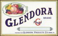 Glendora Fruit Can Label