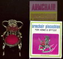 Armchair Pincushion Toy in Box