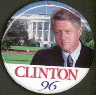 Clinton 1996 Pinback Pin