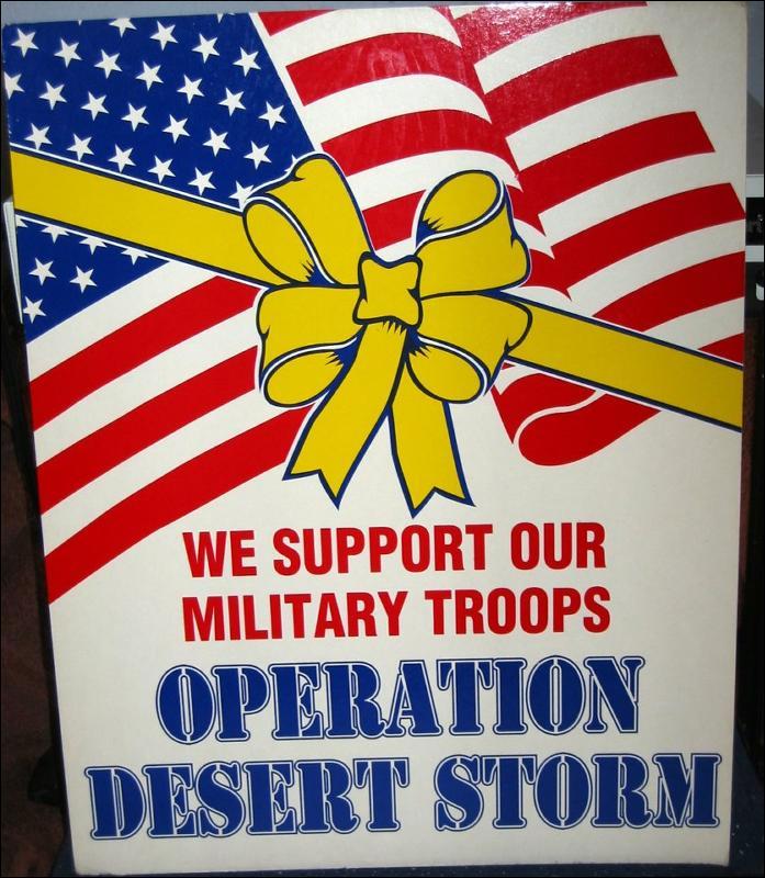 Desert Storm Sign