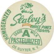 Staley's Milk Bottle Cap Green