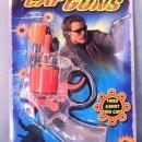 Transparent Colored Cap Gun Toy on Card