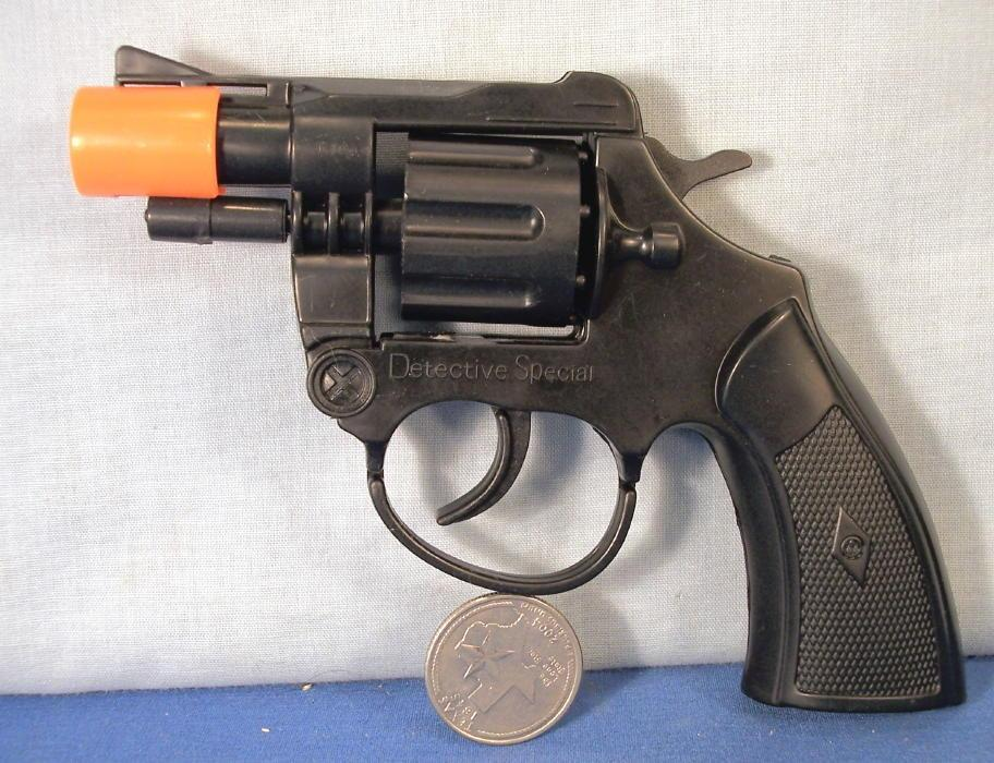 Detective Cap Gun Revolver Toy on Display Card