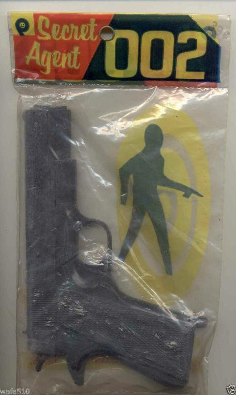 Secret Agent 002 Play Toy Gun in Pack