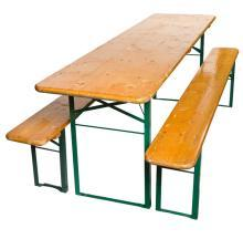 Antique German Wood Folded Beer Bench Trough Table
