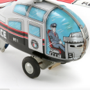 Tin Friction Toy Police Helicopter