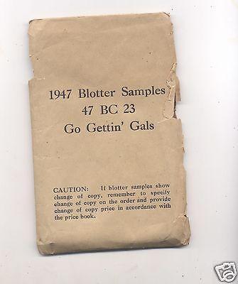 Salesman Sample Blotters 1947 with Envelope