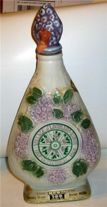 Jim Beam Decanter - Village Lombard Floral -