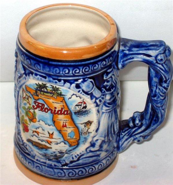 Florida Souvenir Mug - Vintage Ceramic Cup