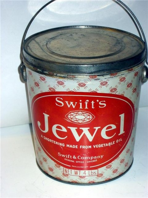 Old Vintage SWIFT'S JEWEL Shortening Metal Tin