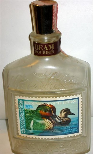 Vintage JIM BEAM Frosted Duck Decanter bottle