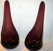 Mulberry Glass Candle Holders