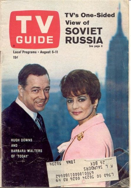 Old Vintage 1967 TV Guide Barbara Walters Hugh