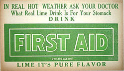 First Aid Lime Citrus sign